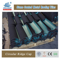 Decorative colored sand coated metal roof tile