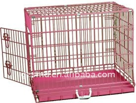 red metal dog cage