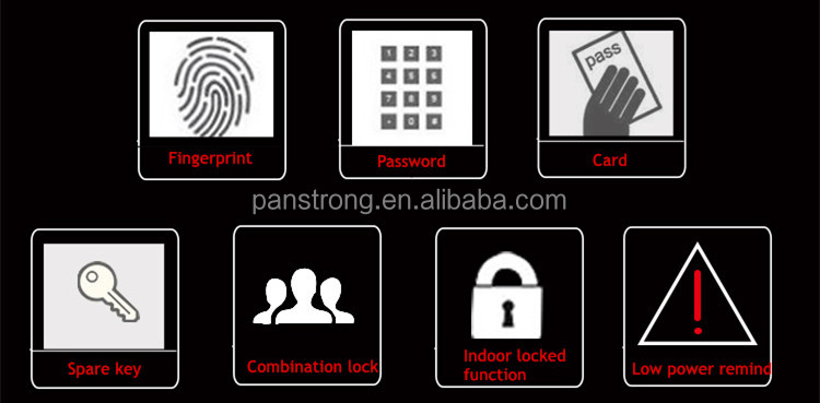 Apartment Condo Android IOS NFC Smart Bluetooth Door Lock With Fingerprint Sensor