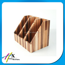 China supplier made rigid wood portfolio file documents pacakging box