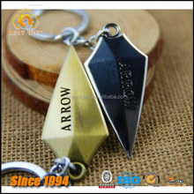 New 3D Engraved The Green Arrow Zinc Alloy Metal Key Chains