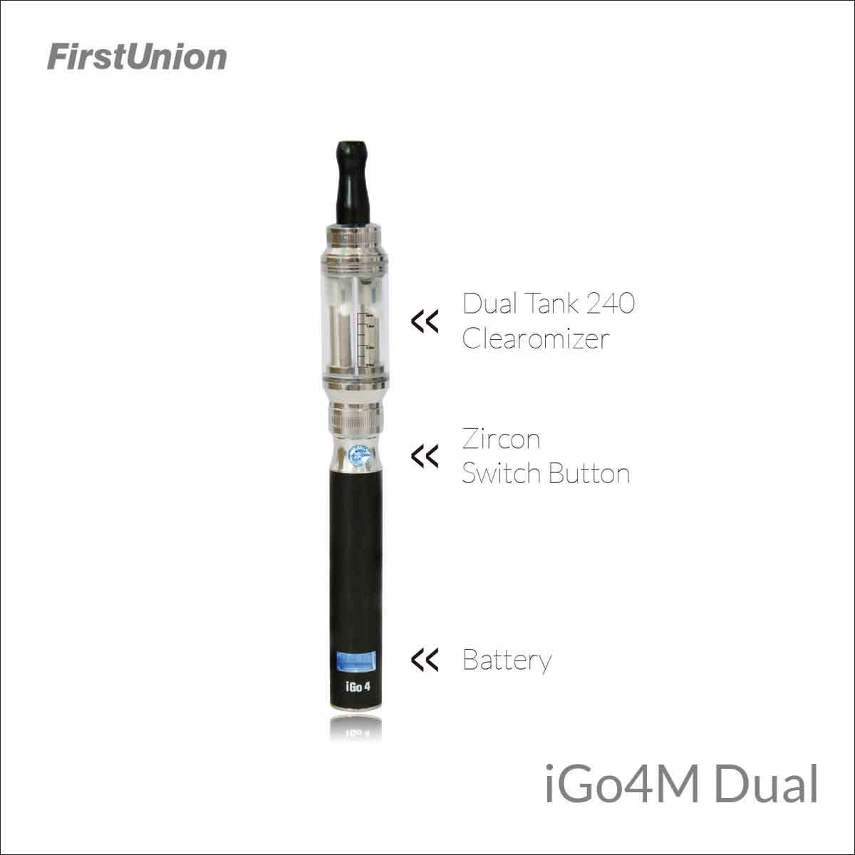 2014 new vape mod vase ecig iGo4M dual 650 mAh/1000 puffs LCD display reusable electronic cigarette