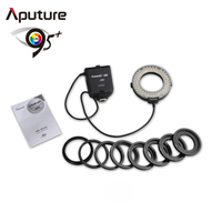 Aputure Amaran AHL-HN100 Halo LED ring flash light with CRI 95+ and off-camera flash for Nikon DSLRs