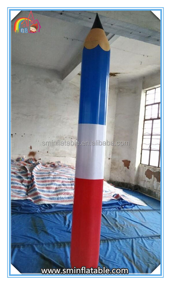 Hot selling giant inflatable pvc pen shape , inflatable pencil for advertising