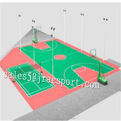 Outdoor Athletic sport court PU surfaces flooring Badminton Court Coating Paint