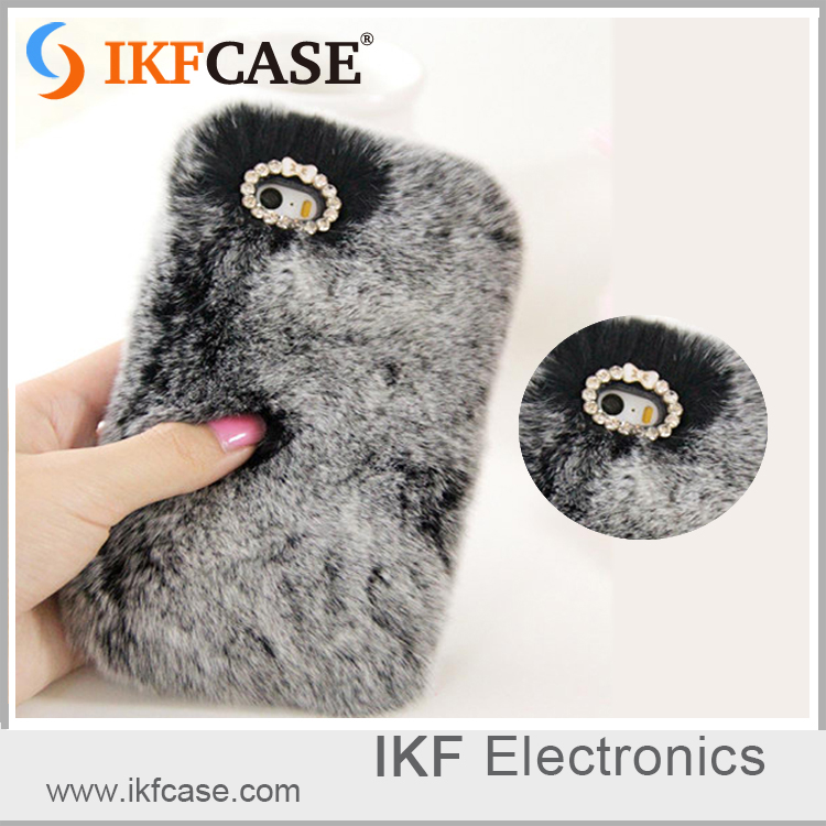 New Fashion warm rabbit fur phone case for iphone 5S