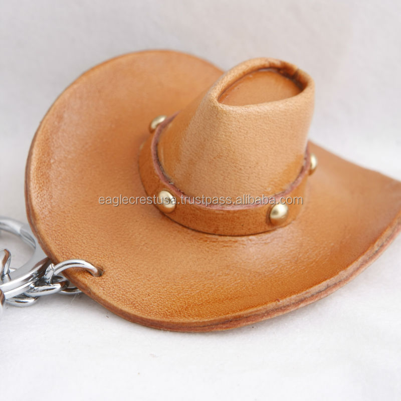 Handmade Leather Cowboy Hat Key Chain