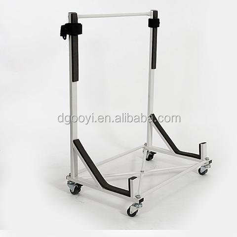 CONVERTIBLE HARDTOP STAND STORAGE TROLLEY Rolling Garage Carrier & Transporter Cart