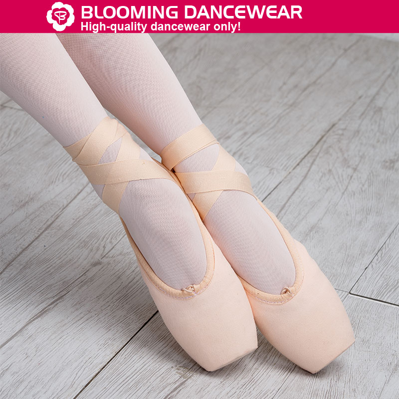 Wholesale professional canvas ballet pointe shoes