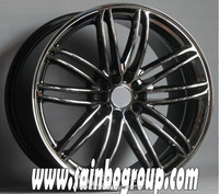 Alloy wheel rims, black chrome wheels, 4x4 aluminium wheels for car
