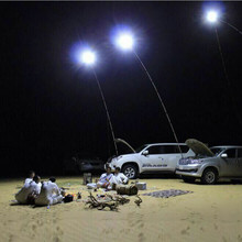 Car Fishing Rod Light Remote Controller Outdoor Camping Lantern Travel Telescopic Lamp 12VDC 4M LED Pole