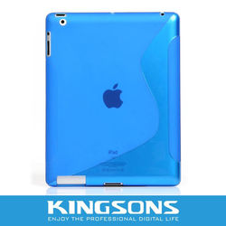 2012 fashion silicon gel cover for new ipad