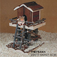 lovely nature wooden hamster cage &house &home
