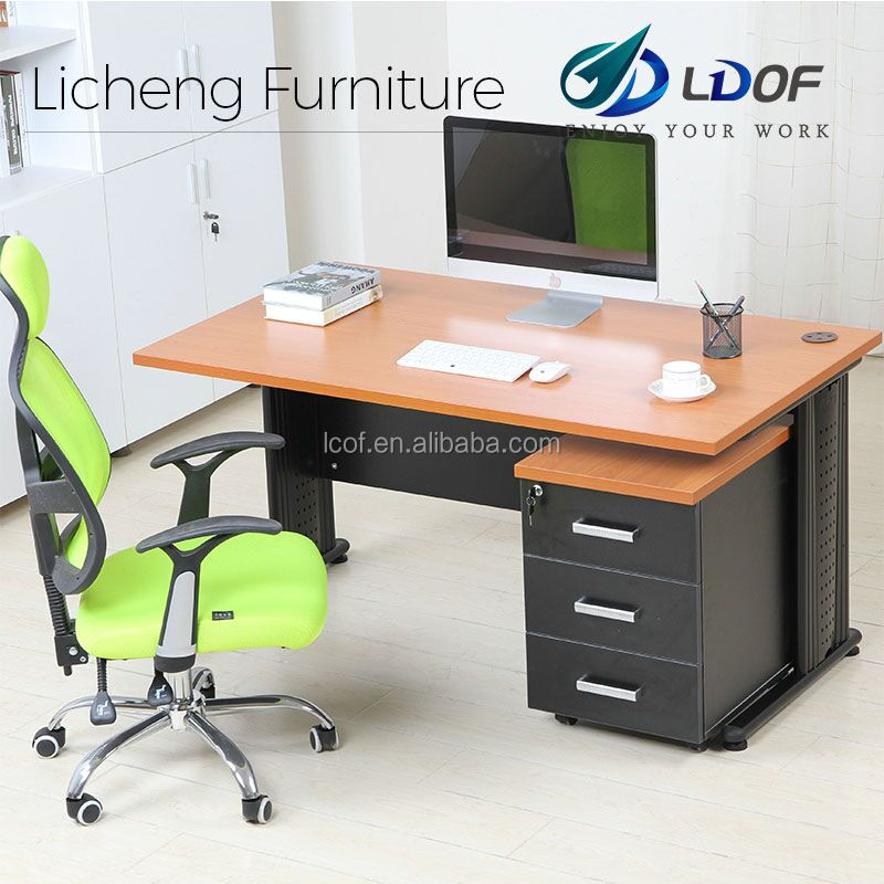 Standard dimension office table/Economical melamine office table