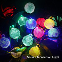 30 Led Crystal Ball String Light Solar Decoration Lights Waterproof Christmas Outdoor Garden Tree Fairy Lighting