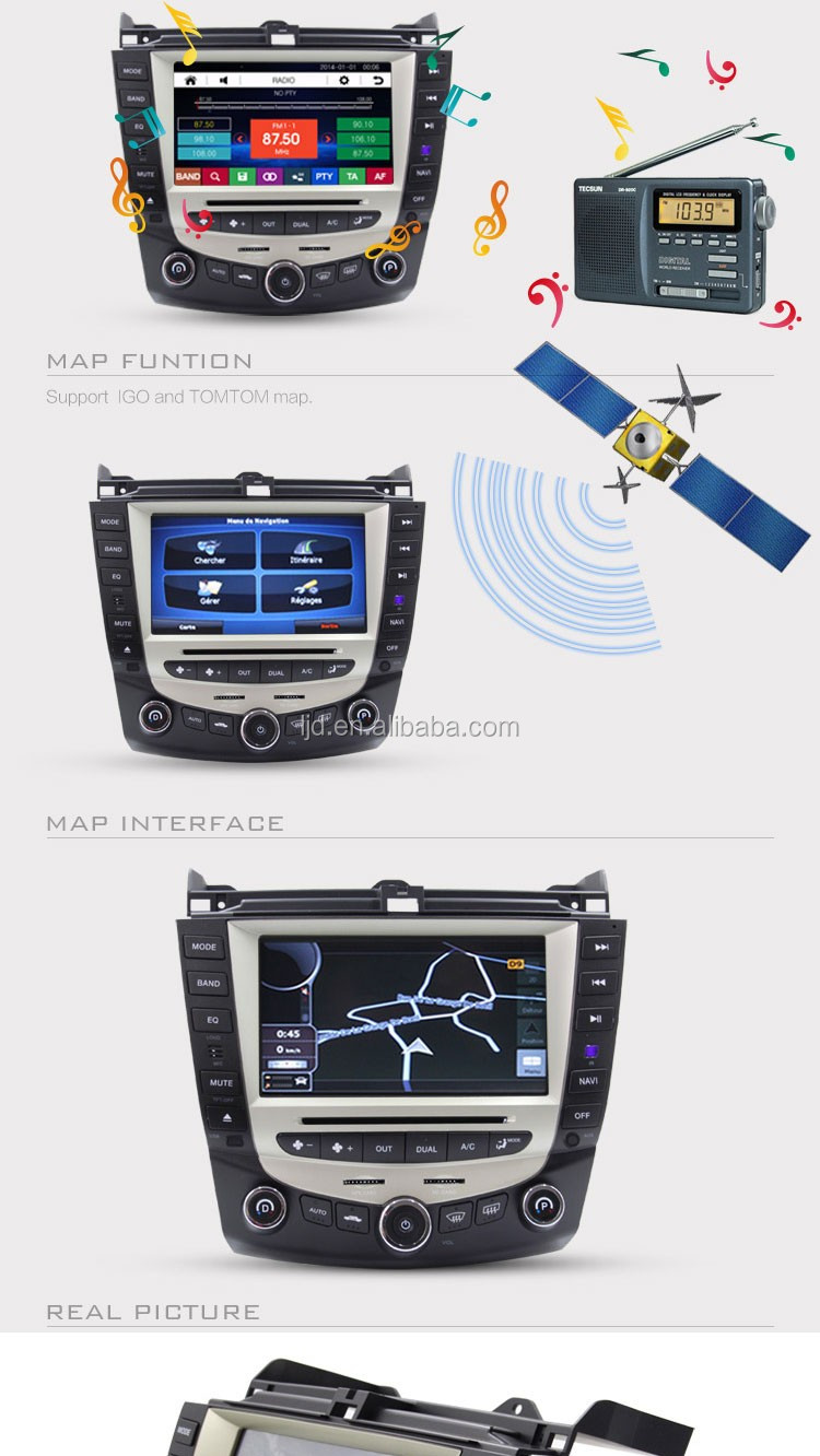 Car gps navigation system for Honad 07 acord car dvd player