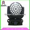 Hot selling RGBW Zoom 36x10w 4in1 LED moving head wash zoom light