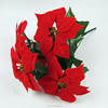 Christmas Decoration Fabric Flower Artificial Poinsettia