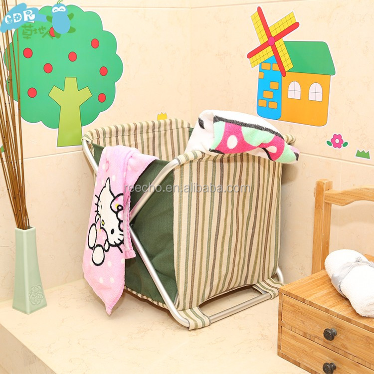 Newest Design Top Quality Laundry Fabric Baby Clothing Storage Basket