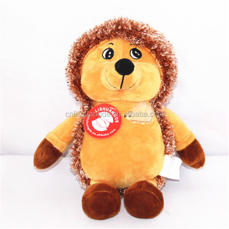 plush cute hedgehog soft toy fabric for stuffed animal