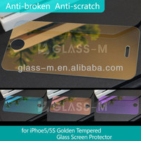 for iPhone 5 Gold Mirror Screen Protector