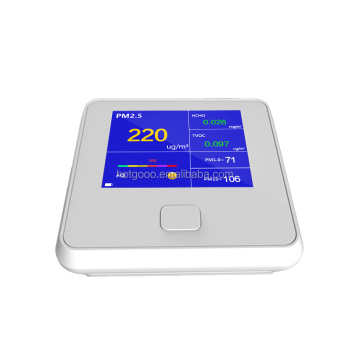white color PM2.5 tester air quality meter