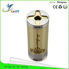 "Vaporizer Polished ""Phantom"" Brass with Polished 304 Stainless Steel Lock Ring infinite stingray mod"