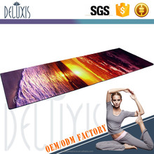 Wholesale organic wine cork printed non slip cork yoga mat
