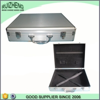 Hard Silvery Smooth Aluminum Business Carry Briefcase