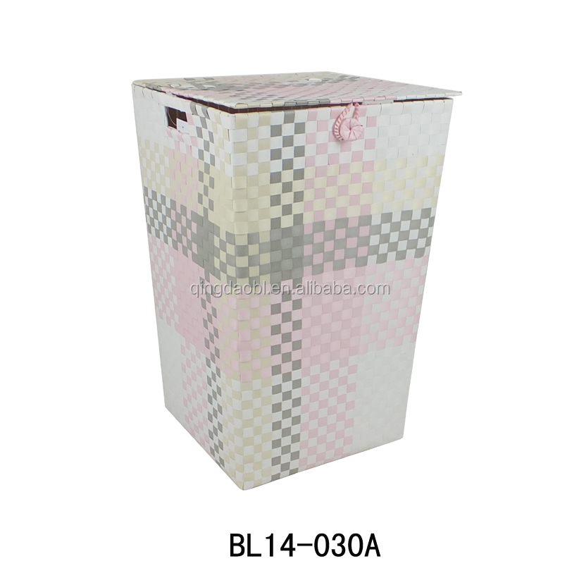 New weave method PLASTIC LAUNDRY BASKET