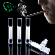 Disposable transparent cigarette filter tubes with Cotton core filtration model No.520