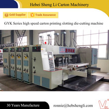 China biggest supplier automatic high speed carton printing machine with slotter die-cutter
