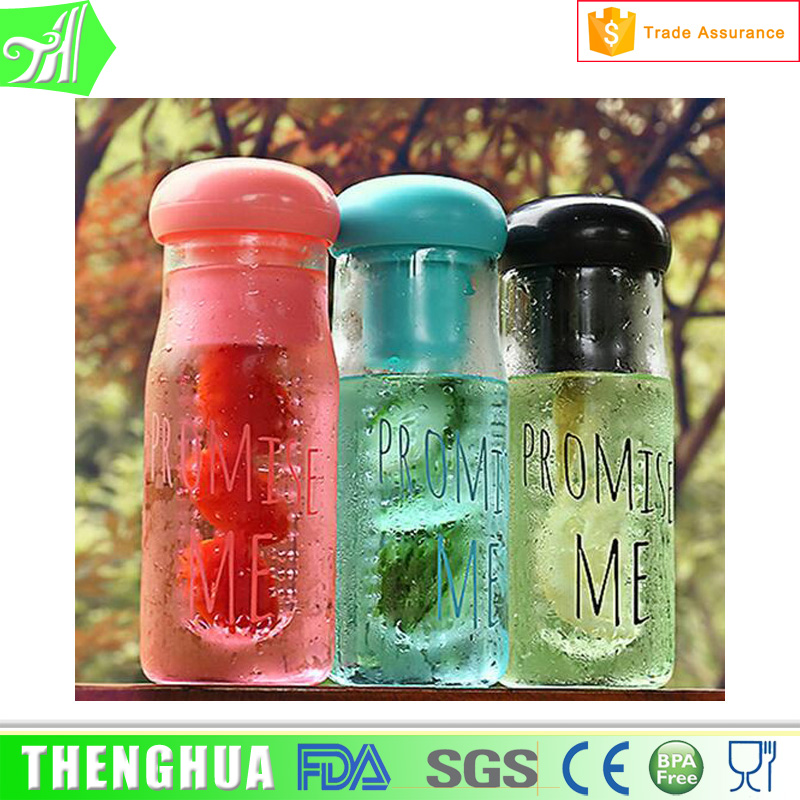 Outdoor hiking Marinatorcolored wine glasses wholesale French square plastic bottle