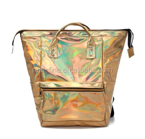 2018 New Hologram Laser Backpacks Female Leather Schoolbag For Women Students Teen Bookbag Girls Shoulder Bags