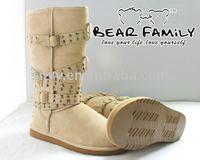 2014 women shoes rivet classic designer winter leather boot