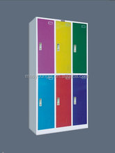 customized colorful digital lock power coated changing room gym used metal safe storage steel locker