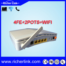 802.11b/g/n WiFi GPON ONT 4 GE 2 FXS VoIP Home gateway unit