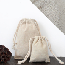 Wholesale Cotton Linen Drawstring Bag For Gift