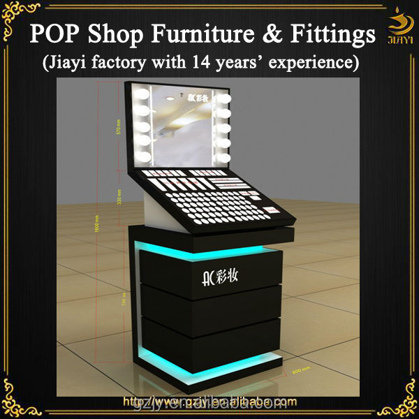 Hot selling make up table and retail counter with light