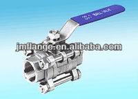 "Stainless Steel 1"" Ball Valve ANSI B 2.1 threaded ends"