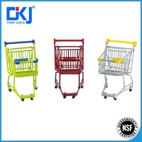 chrome plated kids metal mini grocery shopping cart/wire shopping trolley