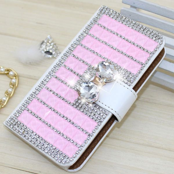 Fashion PU Leather Full Cover Crystal Bling Diamond Phone Case for ZTE Axon phone