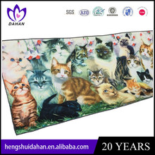 digital 3D printing microfiber bath towel cat and panda tigger pattern beach towel China supplier wholesaler
