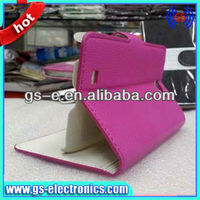 newest high quality luxury wallet leather stand case pu cell phone cover with stand for samsung galaxy note 2