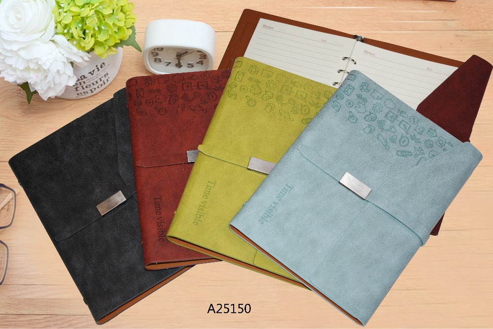 PU leather soft cover loose leaf notebook