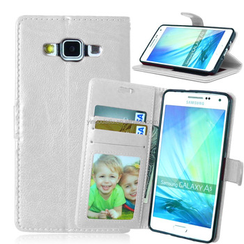 PU leather mobile phone wallet flip kickstand case for Samsung A5