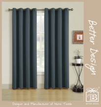 Knitted Elastic Fabric Curtain With Hooks