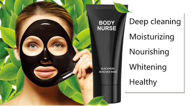 Bamboo Charcoal Purifying Tearing Style Acne Treatment Oil Control Face Black Mask