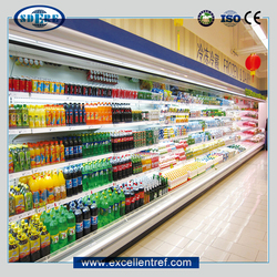 Hot sell Shandong OEM factory fruit and vegetable display freezer/show case
