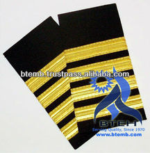 Navy Epaulettes | Army Epaulettes | Military Uniform Epaulettes with Gold Wire French Braids
